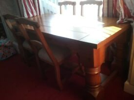 **** DINING TABLE & 4 CHAIRS