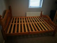 wood king size bed