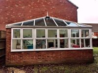 Six year old conservatory - approx size 5.8m x 3.2m