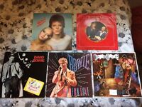 David Bowie vinyl bundle, album, singles and picture disc. 5 items