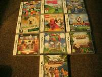 NINTENDO DS LITE GAMES 10 GAMES ALL AS SHOWN FOR ***£15***