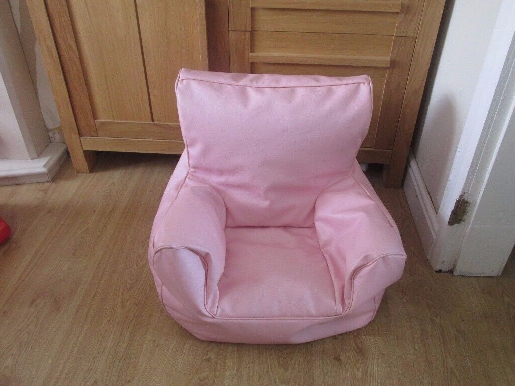 girls baby chair pink faux leather bean chair