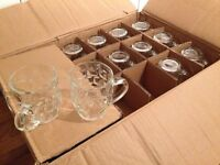 36 x Half pint dimpled Beer Glasses - Wedding / Party
