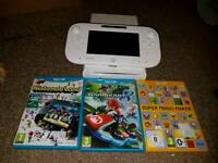 White wii u with 3 games
