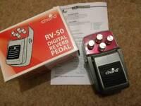 Chord RV-50 Digital Reverb guitar effects pedal.