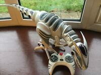 Remote controlled toy dinosaur