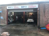 4 Car Workshop Garage for Rent West London 10 Parking Spaces and Office and AC