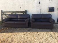 3 & 2 Seater Sofa in Brown