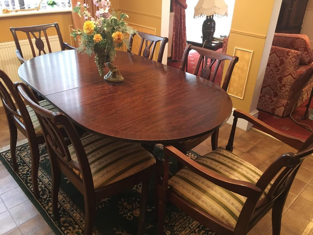 Mahogany Dining Table 6 Chairs 30ono Needs To Go In Heanor