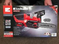 Einhel Expert Plus Chainsaw With 2 x 3amp batteries & charger