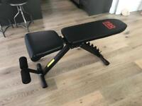 Pro power weights bench & 20kg dumbells