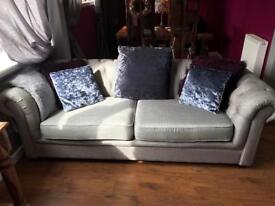 Beautiful fabric chesterfield sofas