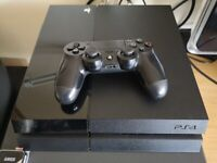PS4 Console 500gb with VR Headset and Controllers, Games and cables