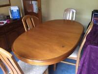 Stag Extendable Dining Table And 6 Chairs