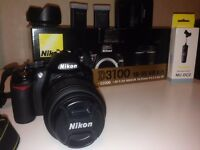 NIKON D3100 WITH KIT LENS 18-55MM VR AFS DX SHUTTER COUNT 7009 IN MINT CONDITION