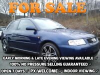 ★ 2000 AUDI A3 1.8 TURBO PETROL 2 DOOR BLUE ★ civic type r vxr astra focus st leon vectra corsa gti