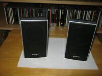 2 x Sony Home Cinema Hi-Fi Amplifier Surround Sound Bookshelf Speakers Ex Cond Bargain £20
