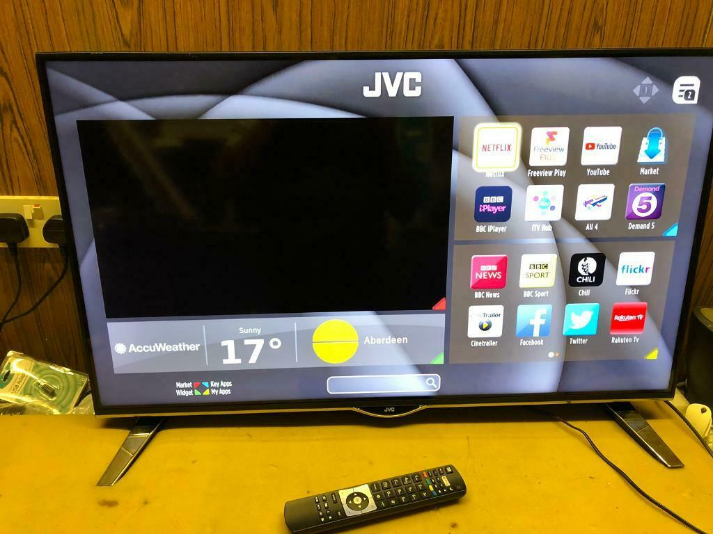 "JVC 40"" LED smart 4k LED Tv wifi Apps 