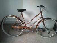 Raleigh transit 2 speed ladies town bike brooks saddle