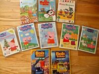 10 Baby Toddler DVDs 5 Peppa Pig, 2 Bob the Builder, Muffin the Mule Maisy Teddy Bear Picnic