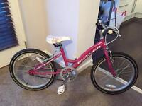 "GIRLS LIGHTWEIGHT BIKE 20"" wheels"