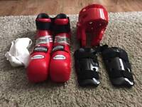 Kids martial arts sparring set