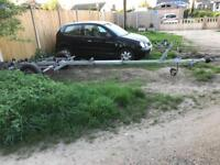 Boat trailer break back and with brakes