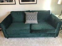 2 gorgeous emerald sofas