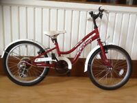 "Girls bike - refurbished Apollo Ivory: 20"" wheels, 6 speed gears"