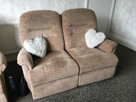 Recliner two seater sofa and chair