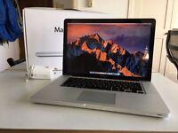 MacBook Pro 15-inch, i7 quad core, SSD, boxed