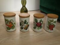 Set of four Portmerion storage jars in a very good condition for only £30