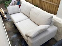 3 seater scandinavian style sofa - only 1 year old, bargain