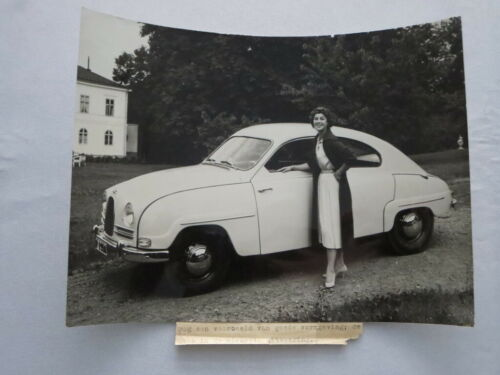 Vintage Saab 96 Factory Press Photo Photograph Image