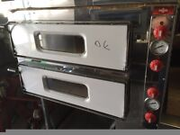 """NEW ITALIAN DOUBLE DECK PIZZA OVEN 8 X 13""""CATERING COMMERCIAL TAKE AWAY FAST FOOD SHOP BAKERY KEBAB"""