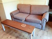 John Lewis nearly new sofa bed and arm chairs - reduced