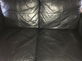 Small 2 seat sofa black