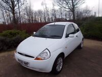 Ford KA 1.3 Zetec A/C Alloy Wheels Colour coded white very rare .58000 from new