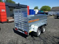 BRAND NEW MODEL 7.7x4.2 DOUBLE AXLE/ DOUBLE BOARDSIDE WITH A RAMP 750KG TRAILER