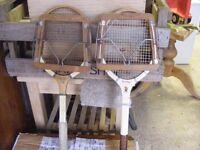 Tennis rackets old school