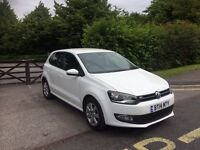 2014 PLATE VW POLO MATCH 1.2 WHITE CAT D registered SMALL rear side DAMAGE NOW REPAIRED 26,000 MILES