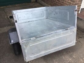 ERDE 102 galvanised tipping trailer. Good condition, easy to store. Complete with cover. £130