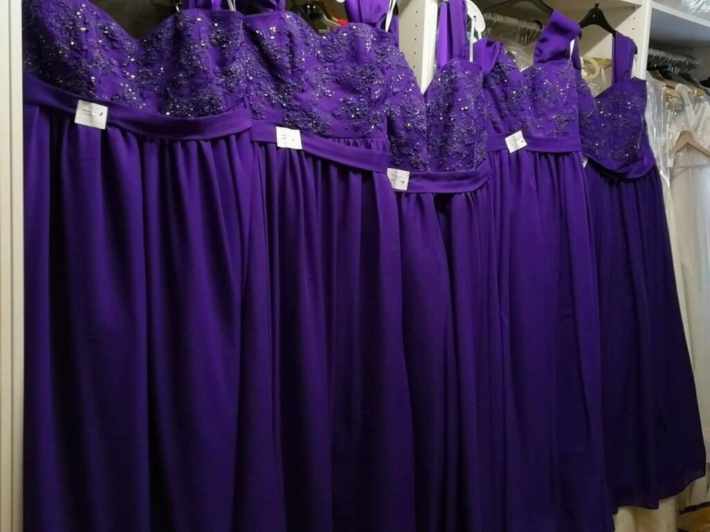 Cadbury Purple Bridesmaid Dresses | in Greenock, Inverclyde | Gumtree