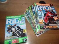 'RIDE' Motorbike Magazine x20 Issues