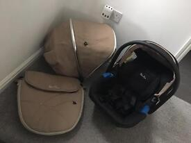 Silvercross Wayfarer nude set and car seat
