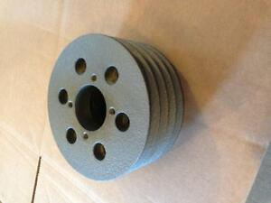 CATERPILLAR 3208 MARINE FRONT AUXILIARY CRANK PULLEY 4 GROOVES