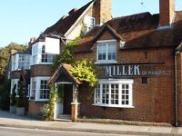 Live in Kitchen Porter required for The Miller of Mansfield 10 miles north of Reading