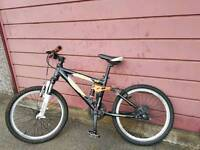 "BOYS/YOUTHS CARRERA FULL SUSPENSION BIKE 24"" WHEELS, GREAT BIKE & CONDITION. ALL WORKS AS SHOULD"