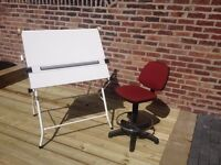 Classic A-frame Champion A1 Drawing Desk & Chair URGENT
