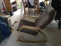 Ikea Poang rocking armchair